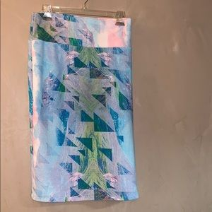 Lularoe militicolor with triangle Cassie skirt